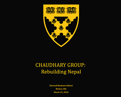 Harvard Business School Case study on Chaudhary Foundation